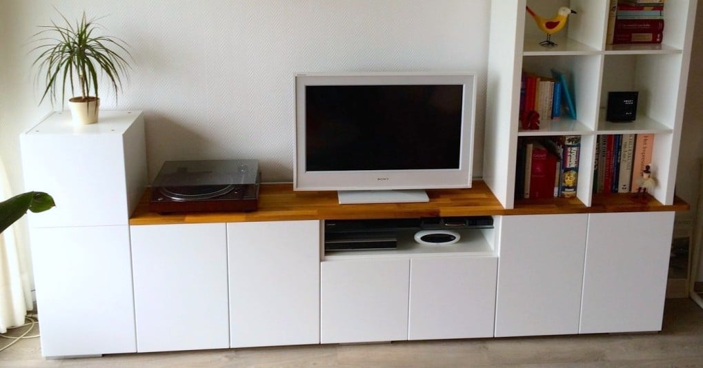TV Unit From IKEA METOD Kitchen Cabinets Hackers
