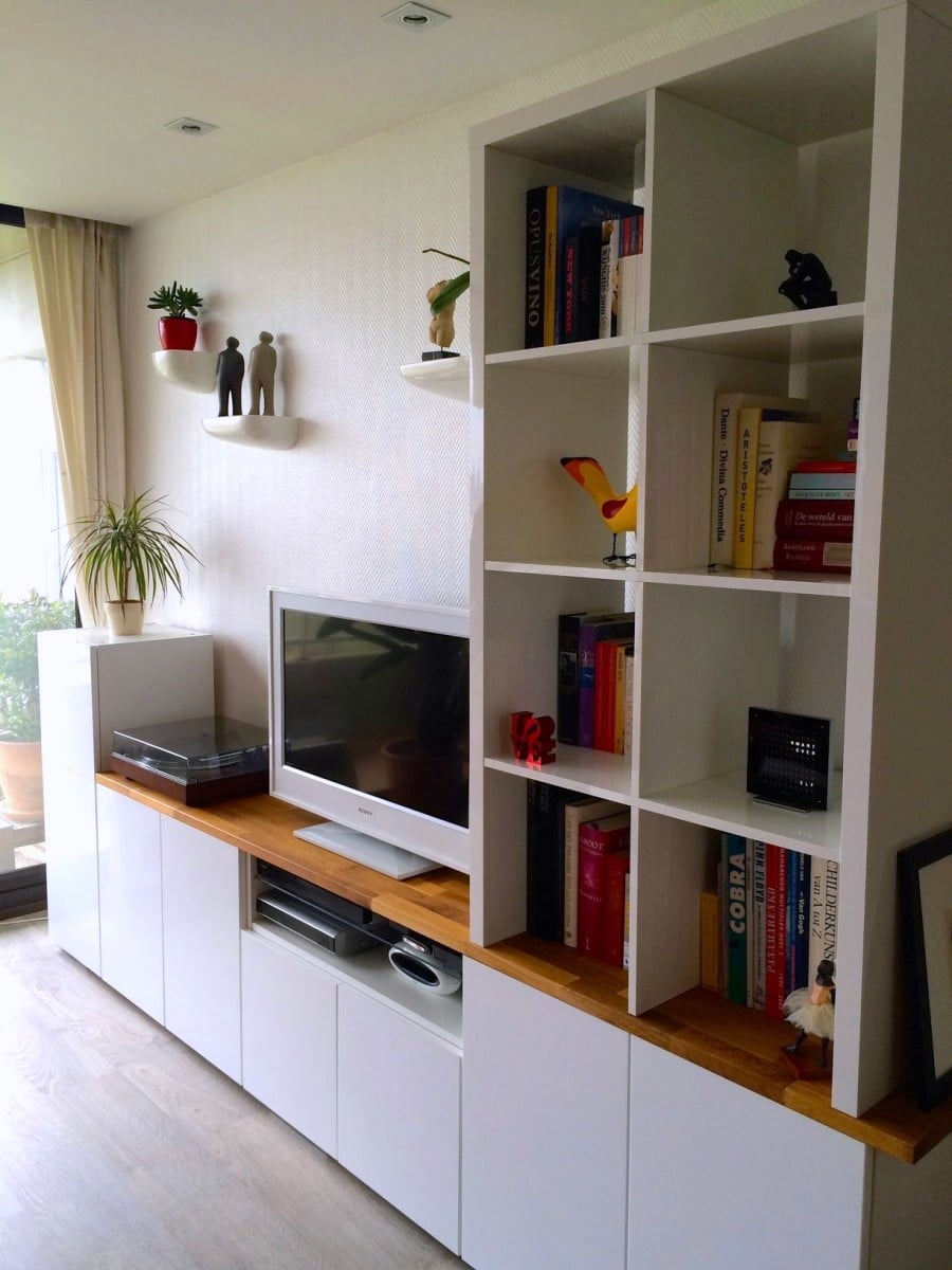 tv unit from ikea metod kitchen cabinets ikea hackers. Black Bedroom Furniture Sets. Home Design Ideas
