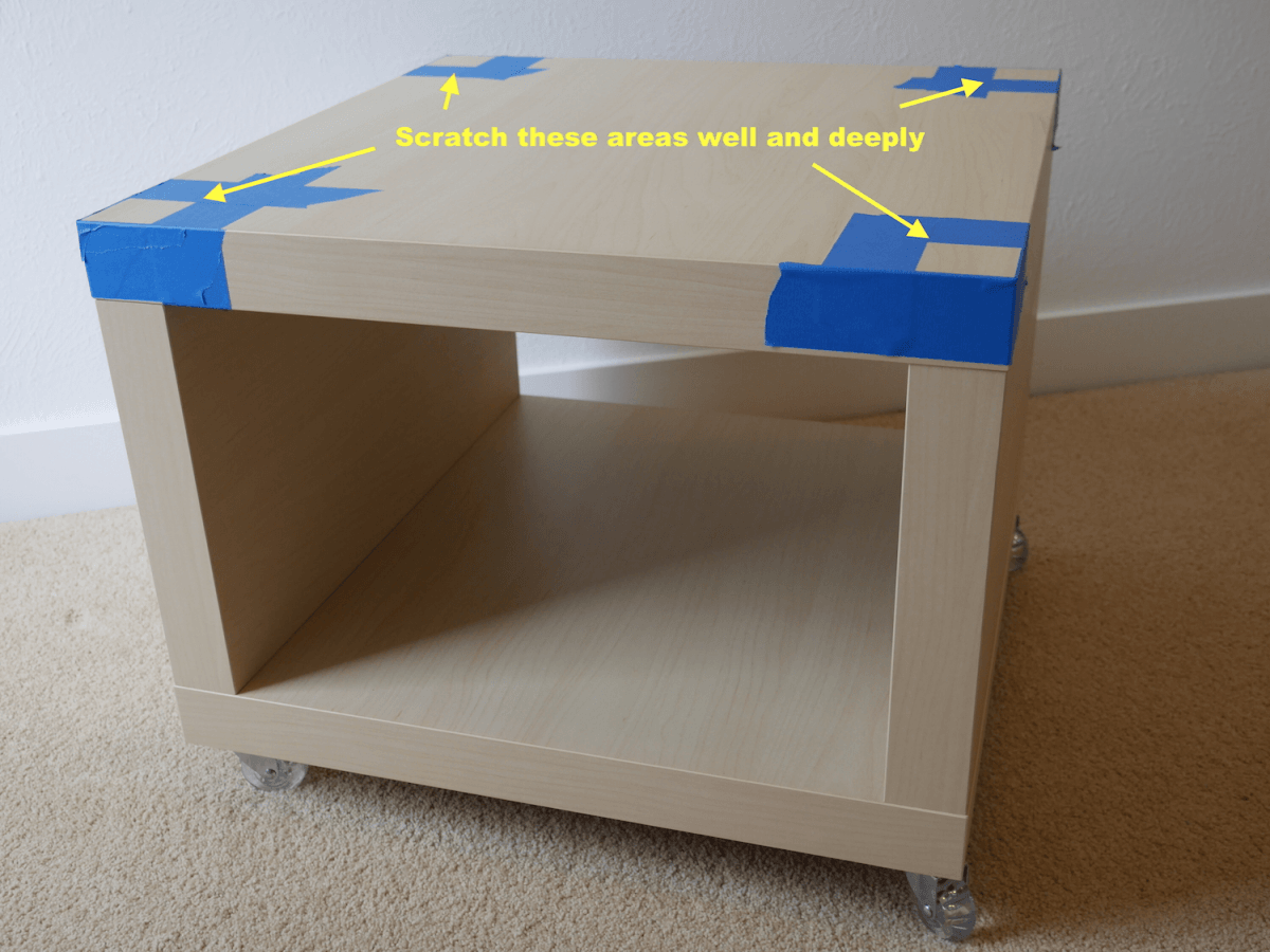 Bedside table from stacked lack ikea hackers ikea hackers for Table ikea lack