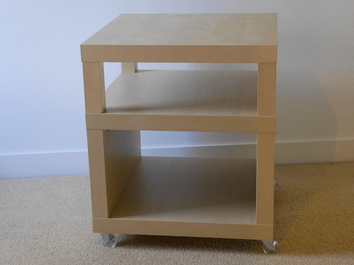 Bedside Table From Stacked Lack Ikea Hackers