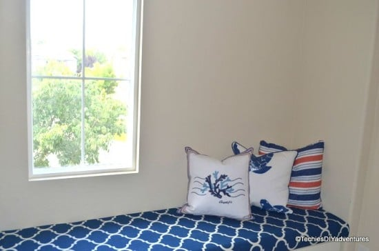Here's our window seat with storage using IKEA Stolmen drawers