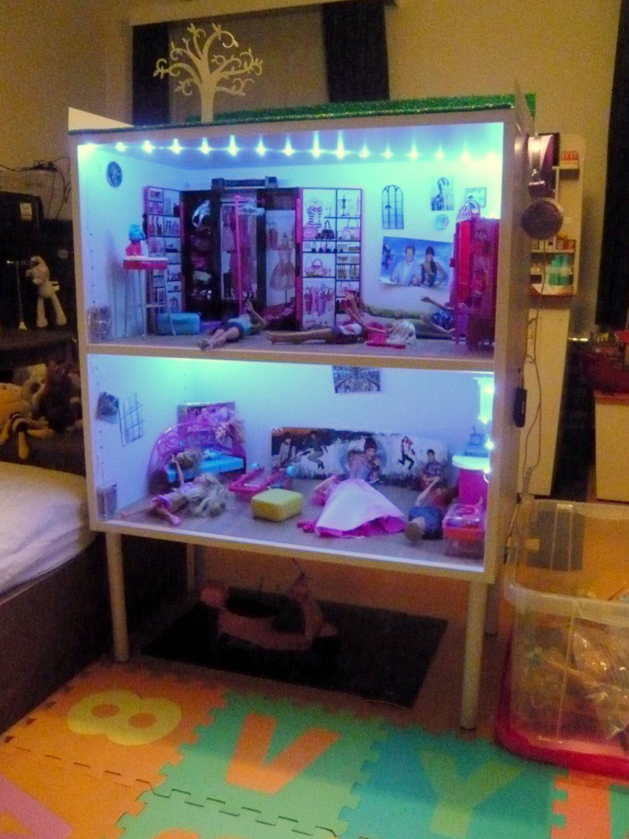 GALANT Office Cabinets Becomes A Barbie Doll House IKEA Hackers - Barbie doll storage ideas