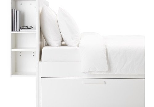 Hackers help how to make a flip top for ikea brimnes Brimnes headboard hack