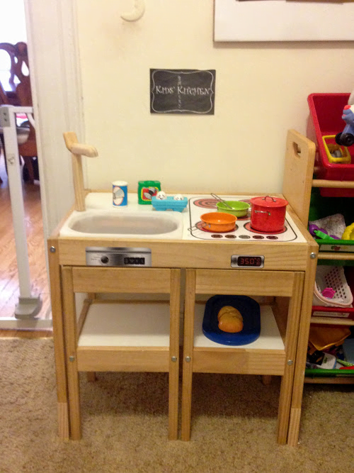 LATT play kitchen - all done!