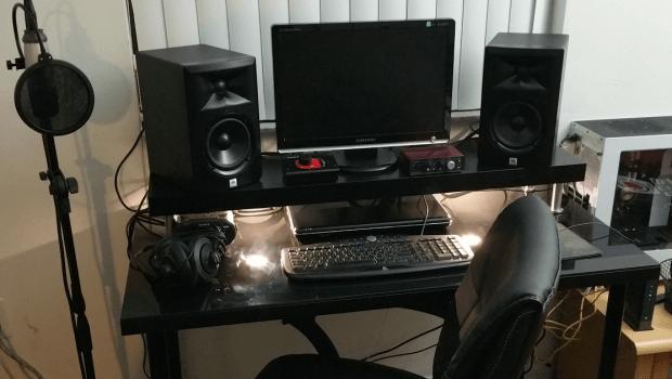 Work In Progress Quot Black To Basics Quot Music Studio Desk