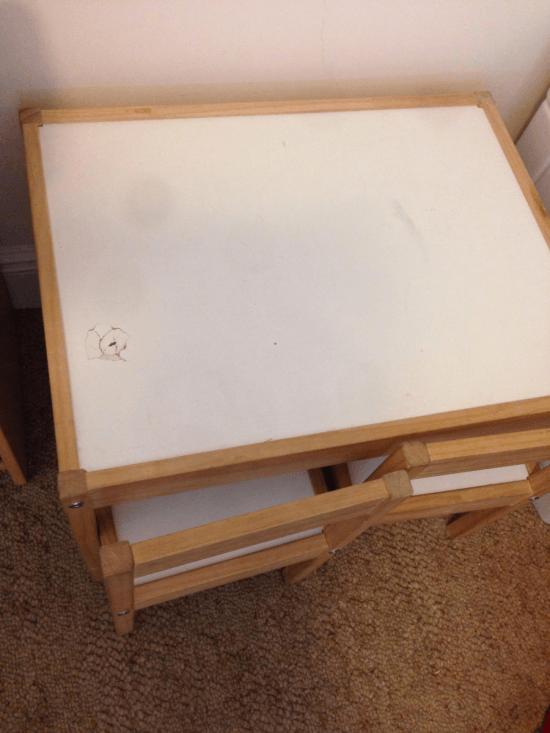 Hole in the LATT table top