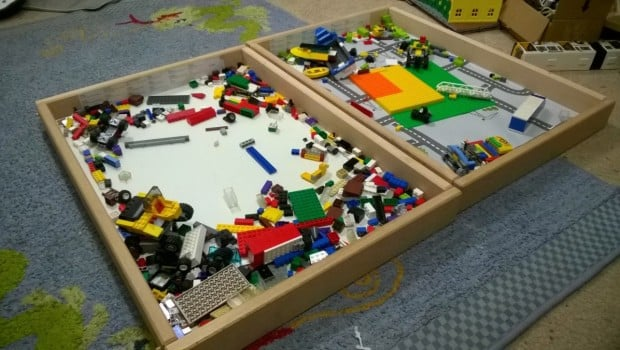 Toy Storage Idea A Sniglar Lego Tray Ikea Hackers