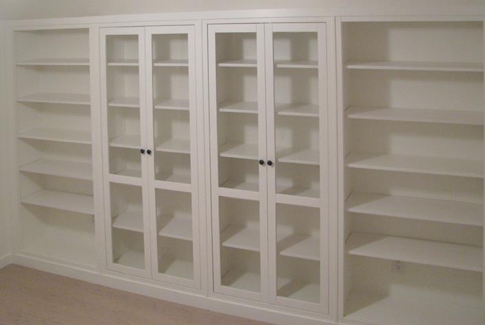 Hemnes Bookshelves Built In Hack Ikea Hackers Ikea
