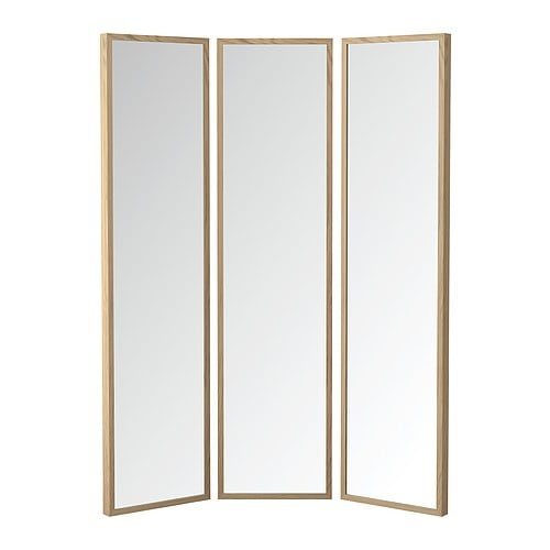 stave mirror turned art ikea hackers ikea hackers. Black Bedroom Furniture Sets. Home Design Ideas