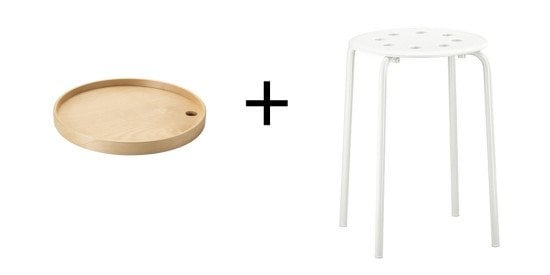 IKEA PS Tray and MARIUS stool goes together