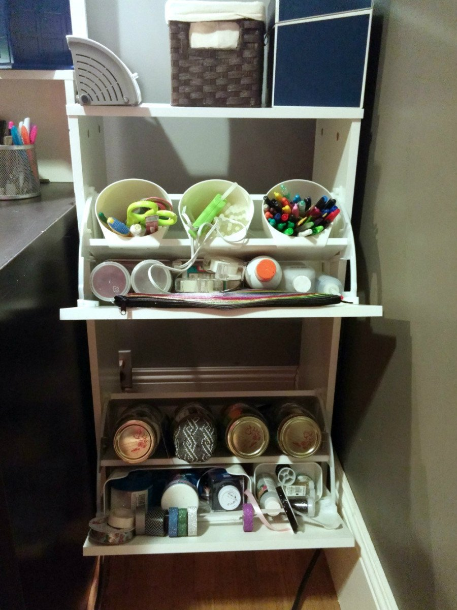 Compact Craft Corner from BISSA Shoe Cabinet - IKEA Hackers - IKEA ...