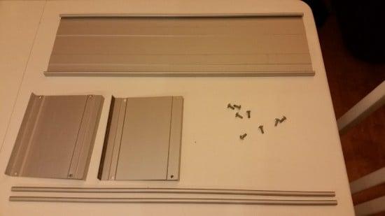 Disassembled CD rack