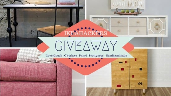 IKEAhackers Giveaway with CoverCouch, O'verlays, Panyl, Prettypegs and Semihandmade