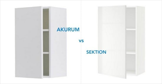 AKURUM and SEKTION incompatible