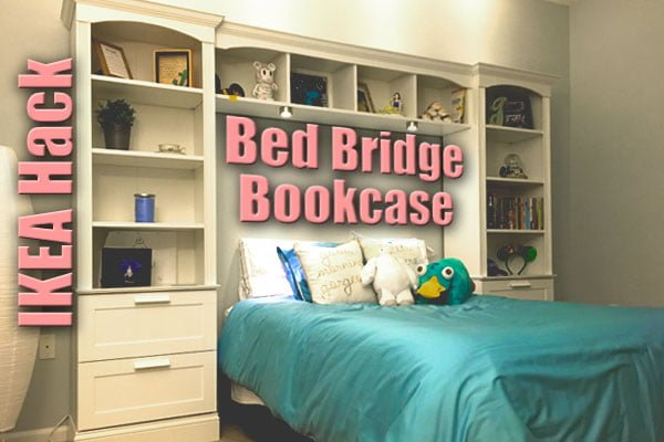bed bridge bookcase from ikea brimnes + billy - ikea hackers