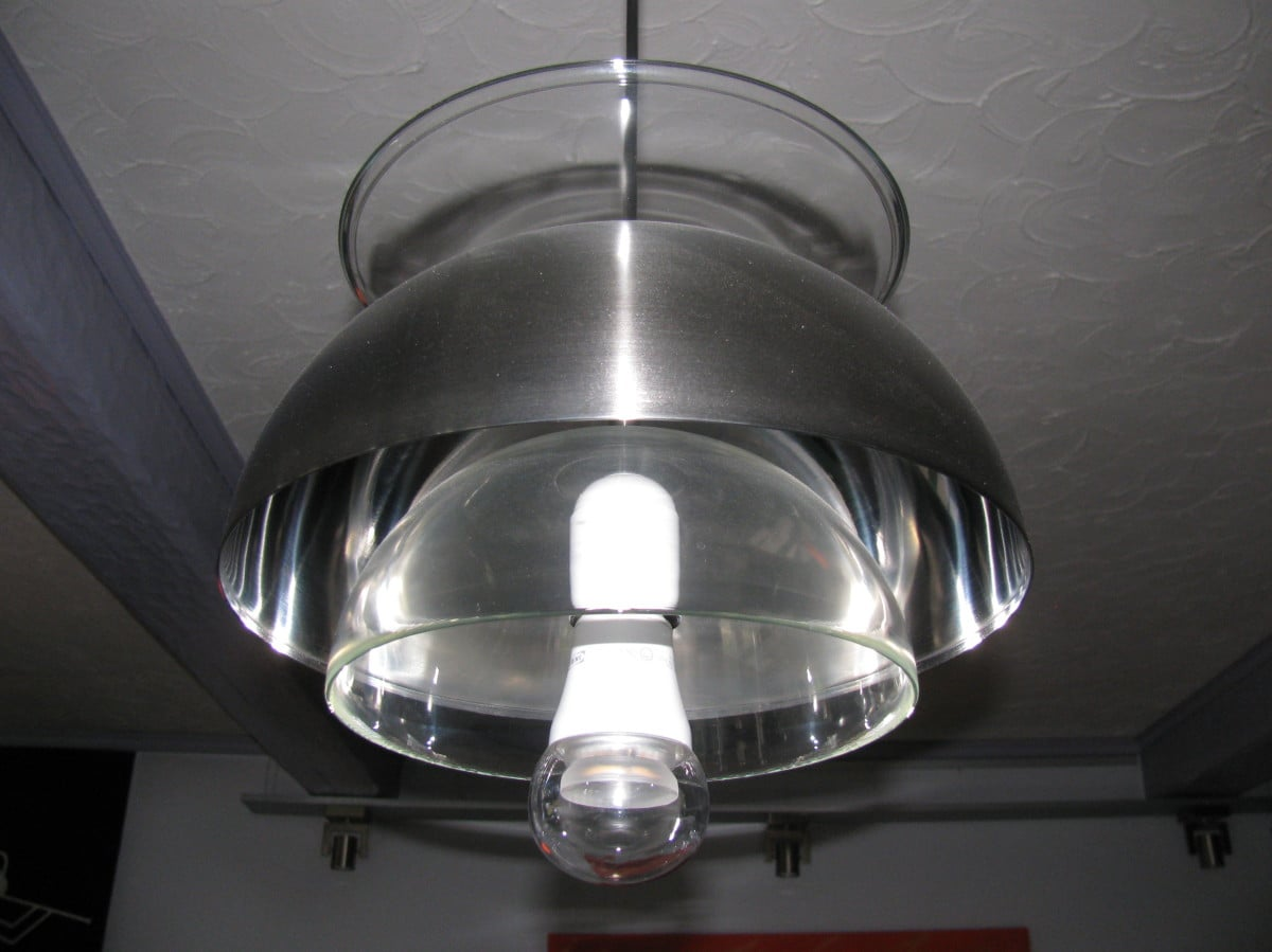 Superb IKEA OPPEN glass bowls as ceiling lighting