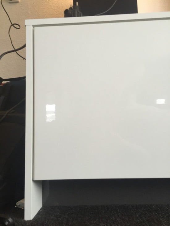 Fridge top cabinets hacked into TV console