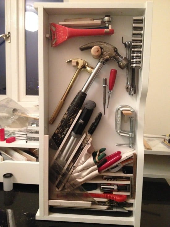 Sneaky Ekby Alex tool cabinets