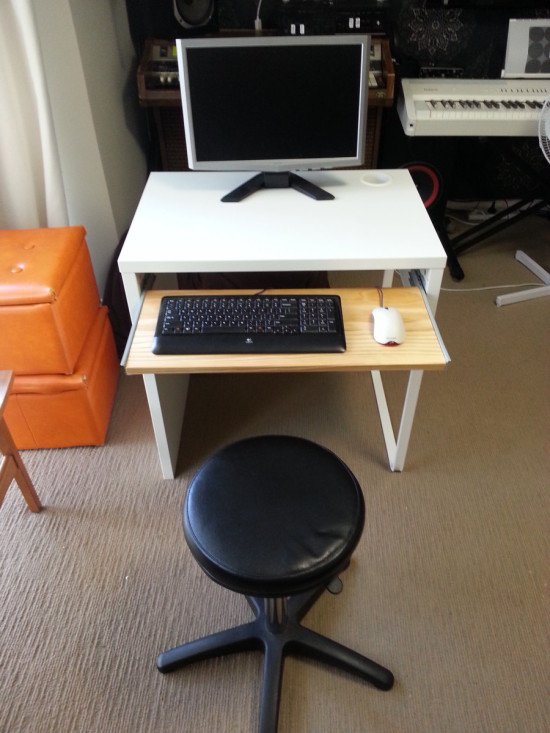 IKEA Micke desk with keyboard tray