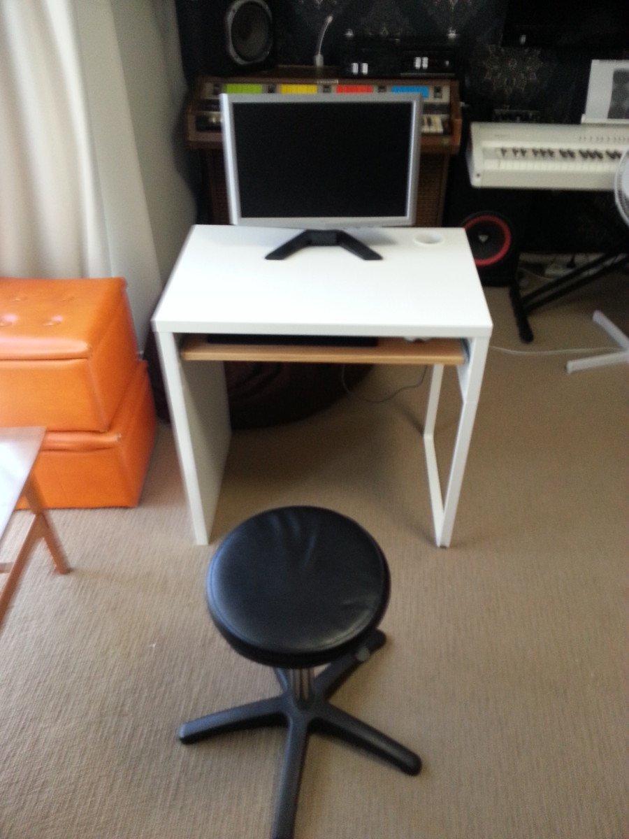 ikea micke desk with keyboard tray ikea hackers ikea hackers. Black Bedroom Furniture Sets. Home Design Ideas