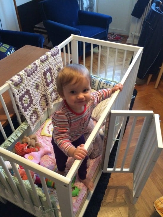 Ikea Gulliver Crib With Baby S Door Ikea Hackers Ikea