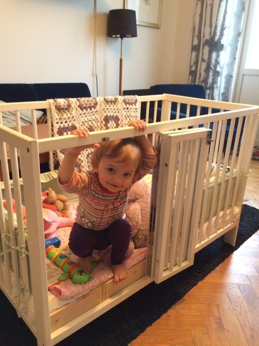 IKEA Gulliver Crib With Babys Door