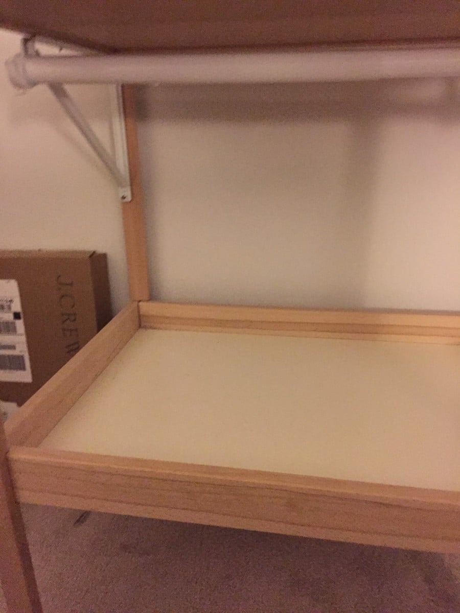 Ikea sniglar changing table converts to a toddler 39 s mini - Table convertible ikea ...