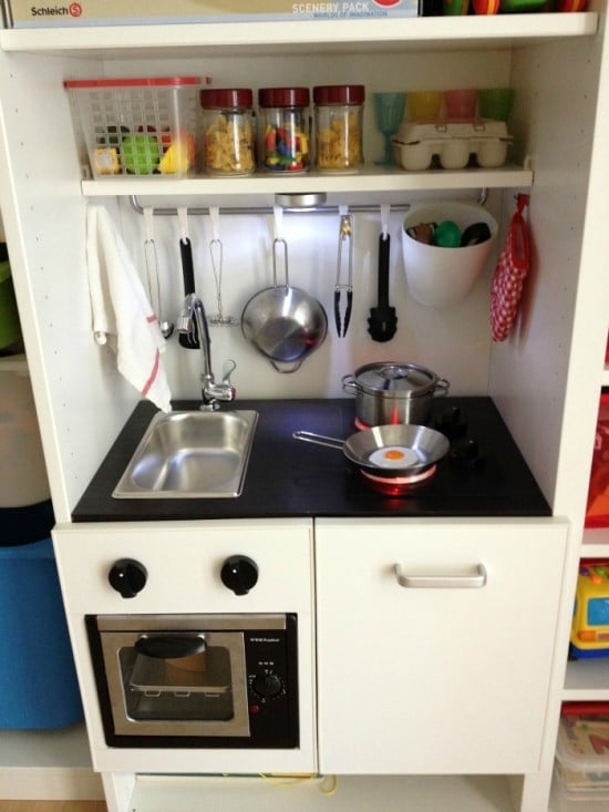 I built a PlayKitchen into our BESTA unit