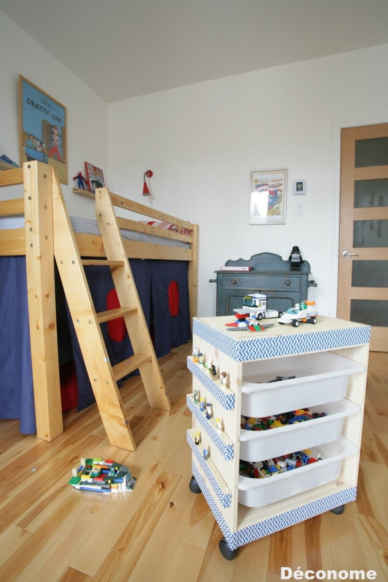 So easy to make an ikea trofast rolling lego table ikea - Rangement plastique tiroir ikea ...