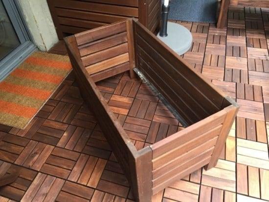 Assemble ÄPPLARÖ outdoor storage bench