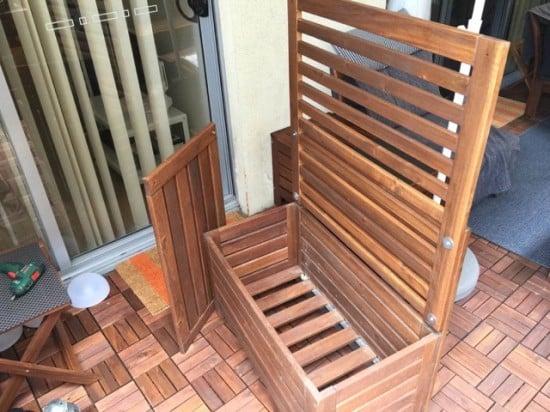 ÄPPLARÖ outdoor storage bench