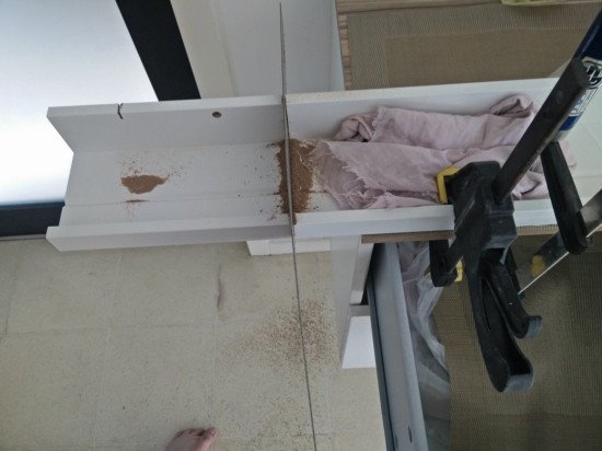 cutting the IKEA Mosslanda