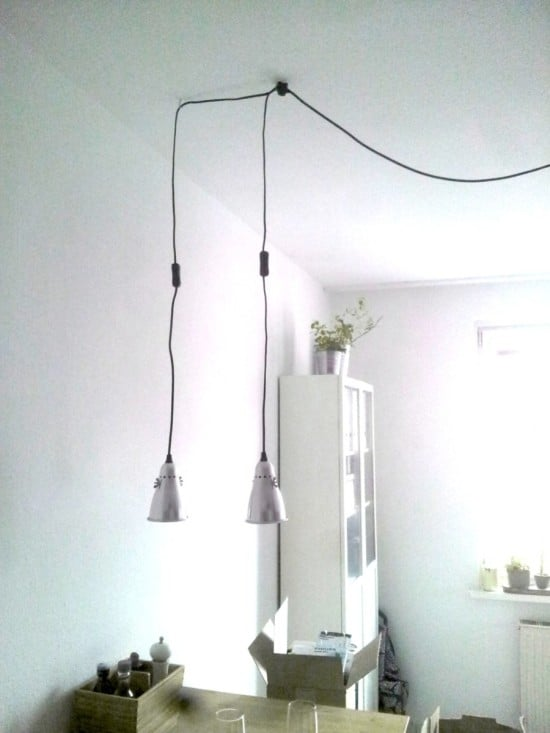 Turn IKEA FAS clamp spotlight into pendant lamp