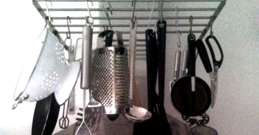 Ikea Grundtal Magnetic Spice Containers ~ Turn Grundtal drying rack into a pot hanger  IKEA Hackers  IKEA