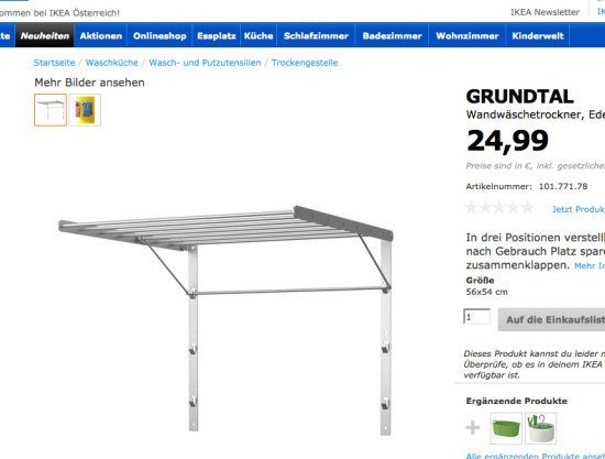 IKEA GRUNTAL towel rack