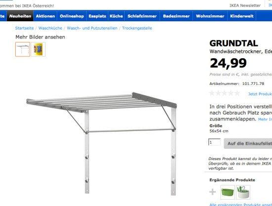 IKEA GRUNTAL towel rack