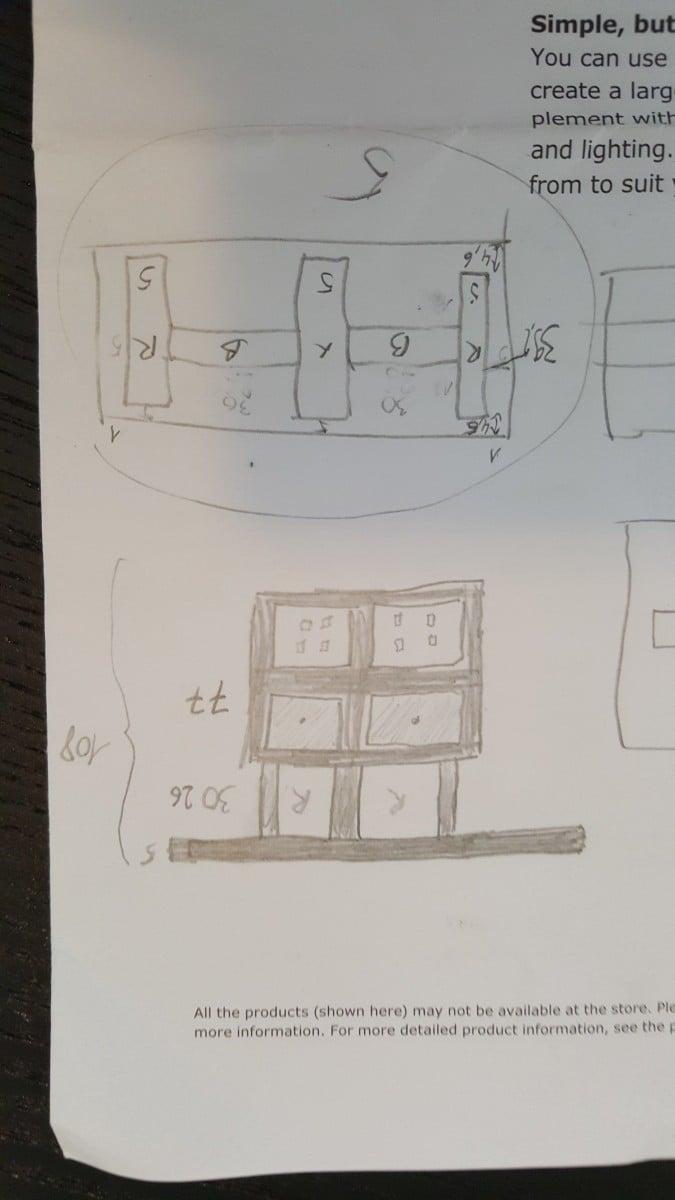 Bar/ High dining table with KALLAX shelves - IKEA Hackers - IKEA ...