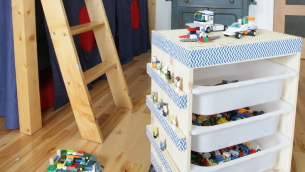 So easy to make! An IKEA TROFAST rolling LEGO table - IKEA Hackers - IKEA Hackers
