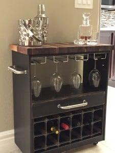 IKEA RAST dresser hack wine cabinet