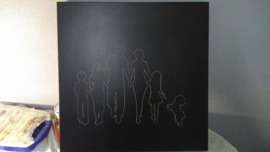 stencil of drawing