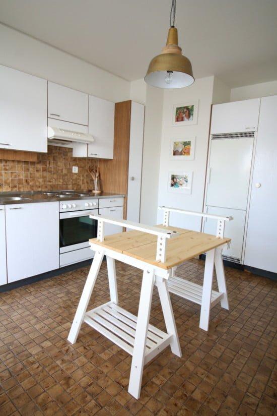 DIY IKEA FINNVARD kitchen island by Sofia Clara