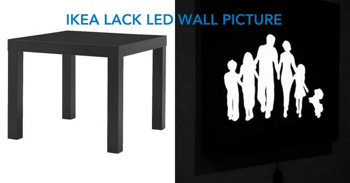 LACK hacked into LED wall picture