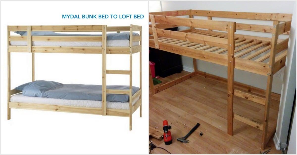 Turn A Mydal Bunkbed Into Kura Loft, Can You Turn A Regular Bunk Bed Into Loft