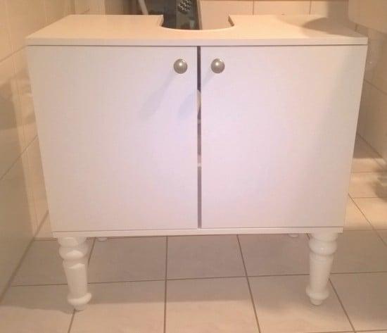 IKEA FULLEN sink cabinet with new BRATTVAG legs