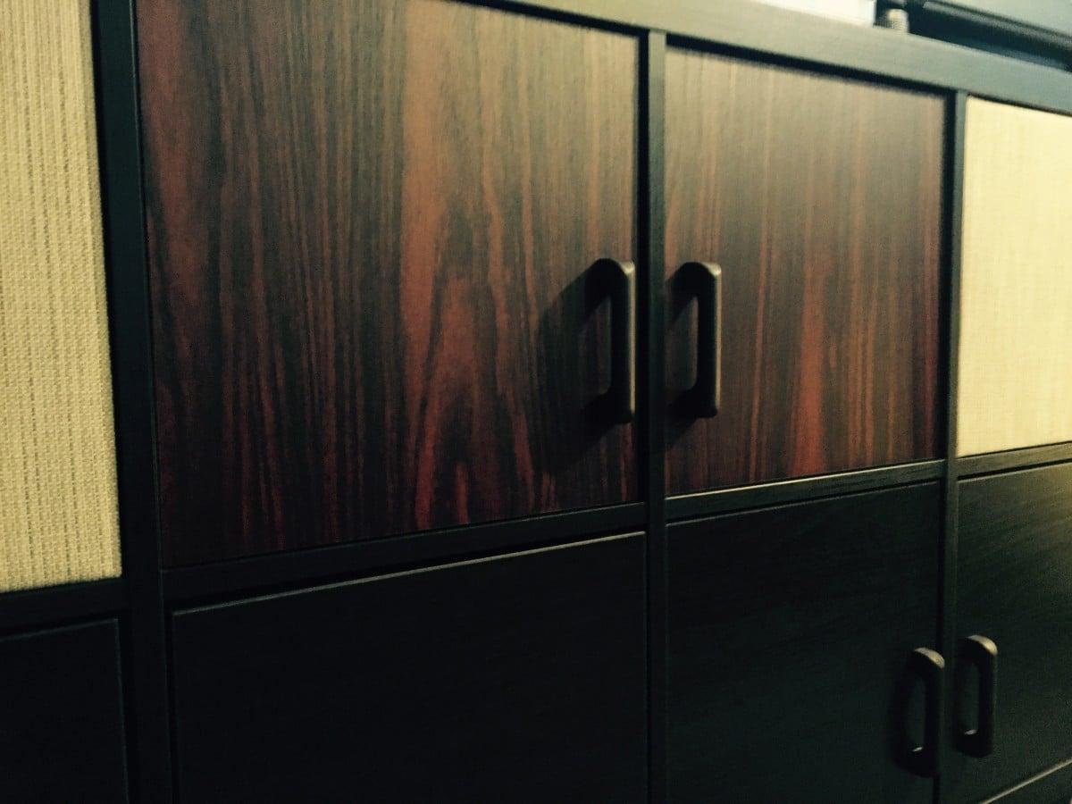 Ikea kallax to mid century modern hifi console ikea for Porte kallax
