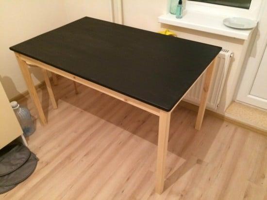 IKEA INGO in black acrylic paint