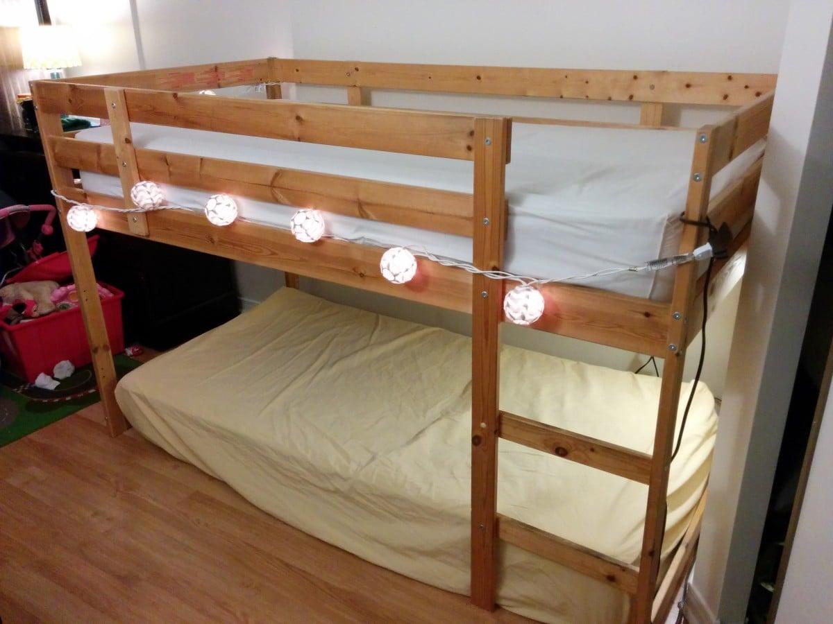 turn a mydal bunkbed into a kura loft bed ikea hackers ikea hackers. Black Bedroom Furniture Sets. Home Design Ideas