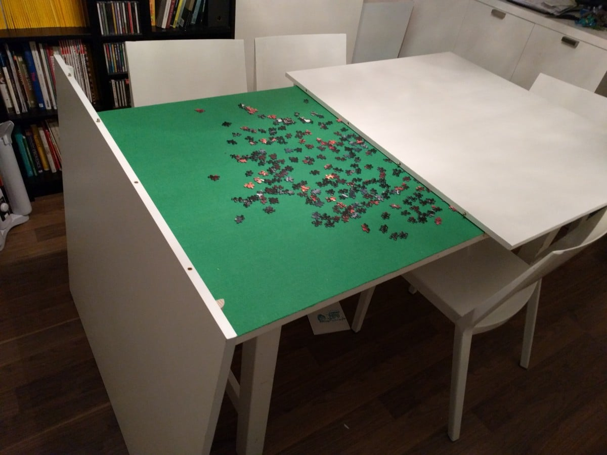 Norden Concealed Puzzle Table  IKEA Hackers  IKEA Hackers -> Table Billard Fabrication Ikea