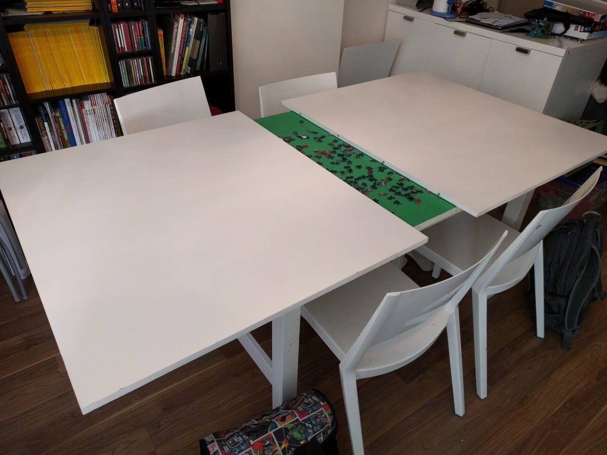 Norden Concealed Puzzle Table - IKEA Hackers