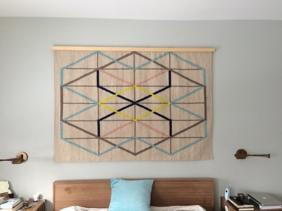 Turn IKEA rug into a wall tapestry
